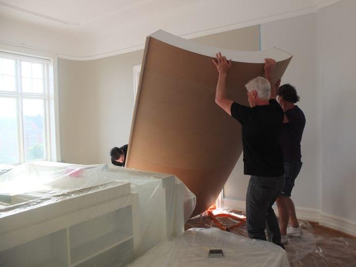 Skräddarsydd inredning till malmöitisk våning